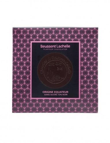 Tablette Equateur Sans Sucre 72% - Chocolaterie Beussent Lachelle - Bean to Bar