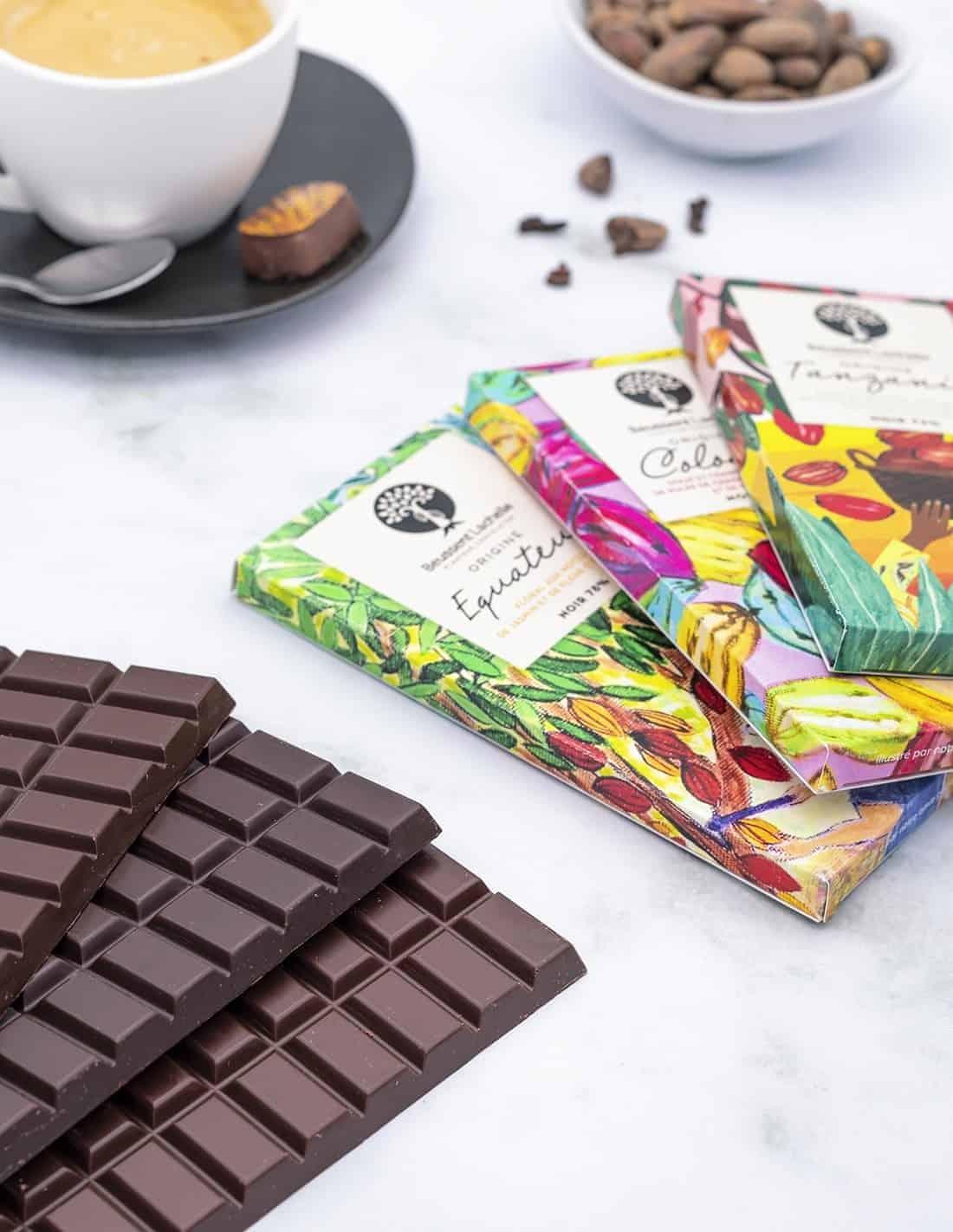 3 Premium Chocolate Bars Box
