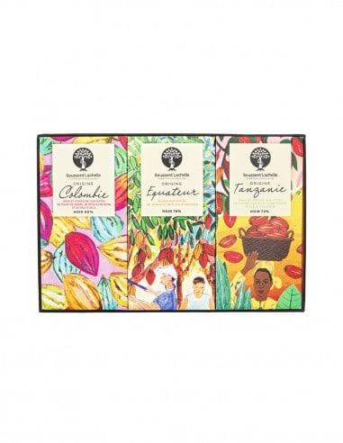 3 Premium Chocolate Bars Box - Chocolat Beussent Lachelle