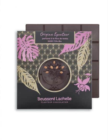 Tablette  Equateur Tonka 72% - Chocolat Beussent Lachelle