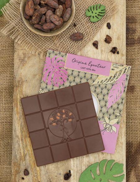 Tablette Equateur Lait 42% - Chocolat Beussent Lachelle