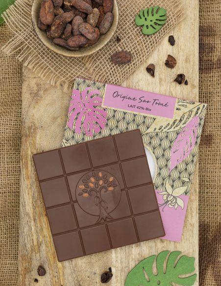 Tablette Sao Tomé Lait 42% - Chocolat Beussent Lachelle