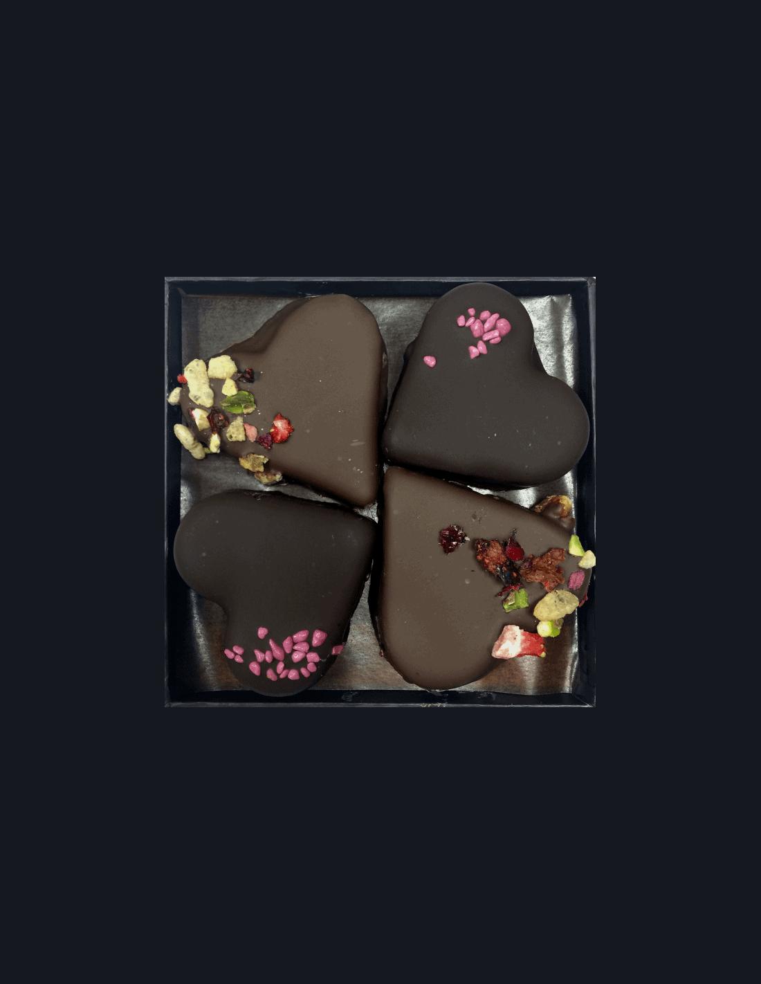 Boîte 4 bouchées St Valentin